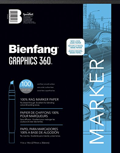 Bienfang Graphics 360 Marker Paper Pad, 11-Inch by 14-Inch, 100 Sheets