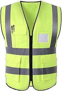 Hycoprot Chaleco de seguridad Reflectante Hi Vis Viz Alta visibilidad Ropa de trabajo Gerente ejecutivo Chaqueta de chalec...