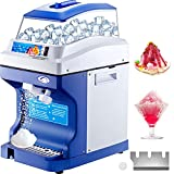 VEVOR 110V Commercial Ice Shaver Crusher 441LBS/H with 5L Hopper, 300W Tabletop Electric Snow Cone Maker 320 RPM Rotate Speed Perfect For Parties Events Snack Bar