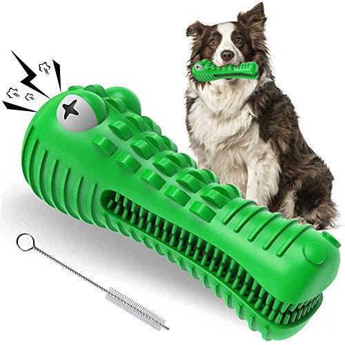 Giocattolo da Masticare per Cani, Giochi per Cane Indistruttibile per Masticatori Aggressivi, Denti di Pulizia Giochi per Cani, Naturale Spazzolino Squeak Giochi per Cani di Media Taglia e Grandi