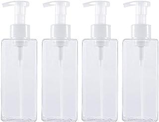 Hemoton 4pcs Empty Pump Bottle Large Capacity Refillable Bottles Liquor Bottles 650ml Lotion Bottle Shampoo Bottle Multi-Purpose Bottles Transparent