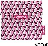 Roll'eat - Snack'n'Go Carreaux gris - 18 x 18 cm - Réutilisable, écologique - Sans...