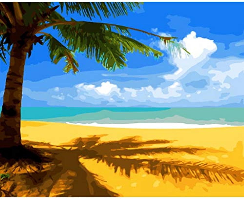 CZYYOU DIY Malen Nach Nach Nach Zahlen Malen Nach Zahlen Für Wohnkultur Für Wohnzimmer Strand, Ohne Rahmen, 40x50cm B07PY8YBNZ | Üppiges Design  379536