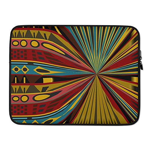 G4P Laptop Sleeve with Multicolor African Print