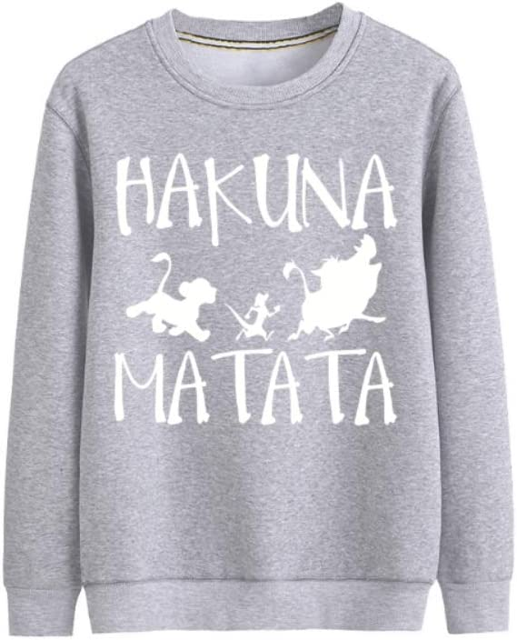 MOHKJMML Pullover Hakuna Matata All-Match Pullover Western Style Outwear Men (Color : A03, Size : XX-Large)