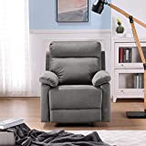 Danxee Recliner Chair Recliner Manual Bedroom & Living Room Chair Reclining Sofa (Grey)
