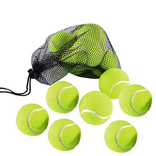 DEtrade 12 pelotas de tenis con bolsa de transporte para cachorros perro pelota reutilizable duradero, a