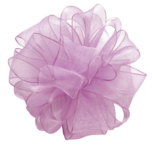 Offray Wired Edge Encore Sheer Craft Ribbon, 1-1/2-Inch Wide by 25-Yard Spool, French Lavender