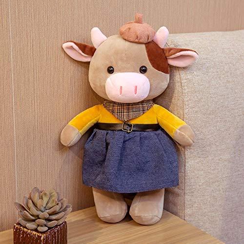 N / A Bonita Pareja de Juguete de Felpa de Vaca, Encantador paño de Vestir, muñeca de Ganado de...