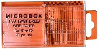Gaugemaster GM-GM649 Micro Wire Gauge HSS Twist Drill Bits Slide Top Box