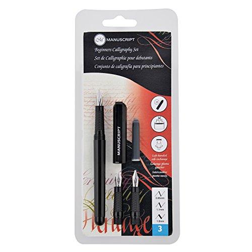 Manuscript Pen Company Ltd Mc1235 Manuscript Beginner'S Calligraphy Set, 5 mm