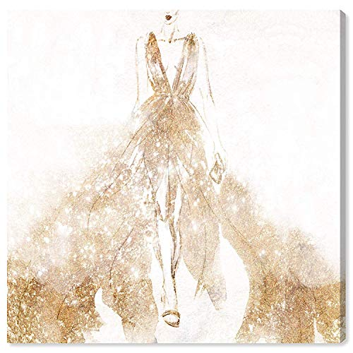 Oliver Gal Night for Stars Glam Kunstdruck auf Leinwand, modernes Design