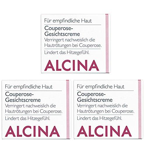 3er S Couperose Gesichtscreme Pflegende Kosmetik Alcina Verringert nachweislich die Hautrötungen bei Couperose je 50 ml = 150 ml