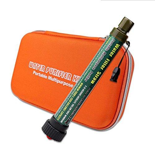 Persönlicher Wasserfilter Outdoor Camping Wasser Filter Mini Tragbarer Portable Luftreiniger Aktivkohlefilter Entfernt 99,9% Der Bakterien Wanderungen Reisen (Eine Reihe) ,Orange