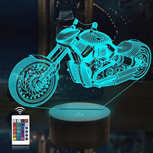 CooPark 3D Nachtlicht Kinder Nachttischlampe 16 Farben ändern mit Fernbedienung Weihnachten Halloween Geburtstagsgeschenk für Freundlicher Junge