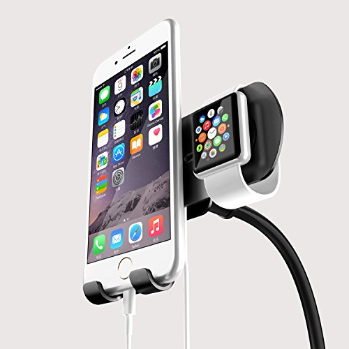 Black Friday Countdown Sale! Dual Car mount holder for iPhone and apple watch (5 / 5S / 6 / 6 plus/6s and both 42mm & 38mm sizes of 2015 Watch Models)