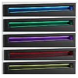 CARO-Möbel Polsterbett Jerry Einzelbett Bettgestell in schwarz mit LED Beleuchtung, 140 x 200 cm, inklusive Lattenrost - 4