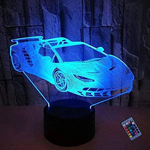 Optische Täuschung 3D Sportwagen Nacht Licht 16 Farben Andern Sich Fernbedienung USB-Strom Touch Schalter Dekor Lampe LED Lampe Tisch Kinder Brithday weihnachten Geschenk