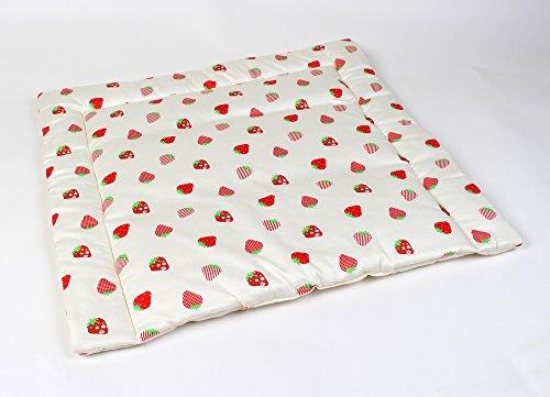 Wickelauflage Bio,Erdbeere, mit abnehmbare Bio Baumwolle Bezug mit Nässeschutz