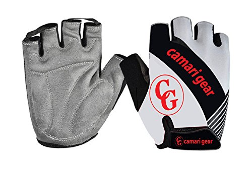 Camari Gear Sports Fahrrad Handschuhe Herren und Damen, Fitness Handschuhe Trainingshandschuhe Fahrradhandschuhe für Rennrad, MTB Road Race, Mountainbike, Gym, Reiten, Crossfit