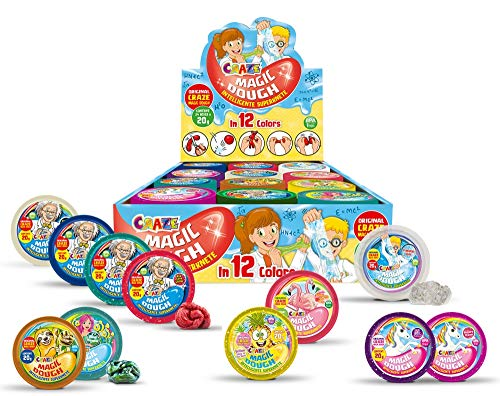 Craze GmbH Intelligente Superknete für Kinder Craze Magic Dough Kinderknete Magische Knete 3er Bastelset Springgknete 3 X 20g 16855, mehrere Farben verfügbar