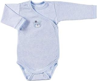 Ewa Klucze True Love Baby Wickelbody für Jungen Mädchen Unisex Langarm - Blau Rosa Beige Weiß Grau - 100% Baumwolle - Größen: 50/56/62