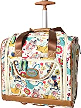Lily Bloom Designer 15 Inch Carry On - Weekender Overnight Business Travel Luggage - Lightweight 2- Spinner Wheels Suitcase - Under Seat Rolling Bag for Women (Furry Friend)