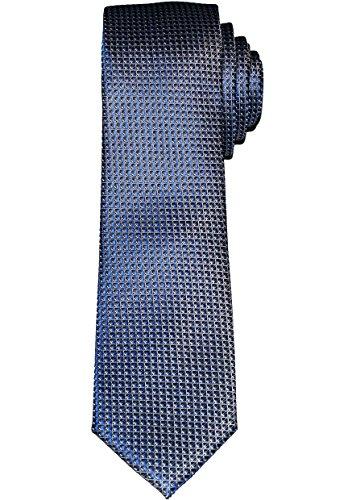 OLYMP Krawatte Slim, 6 cm, Seide, Marine Kariert