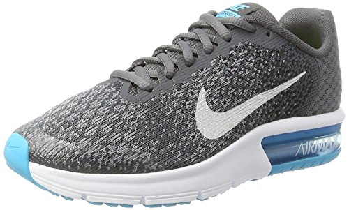 Nike Air Max Sequent 2 GS, Scarpe da Ginnastica Basse Uomo, Multicolore (Dark Grey/Metallic Silver/Black/Stealth 001), 40 EU