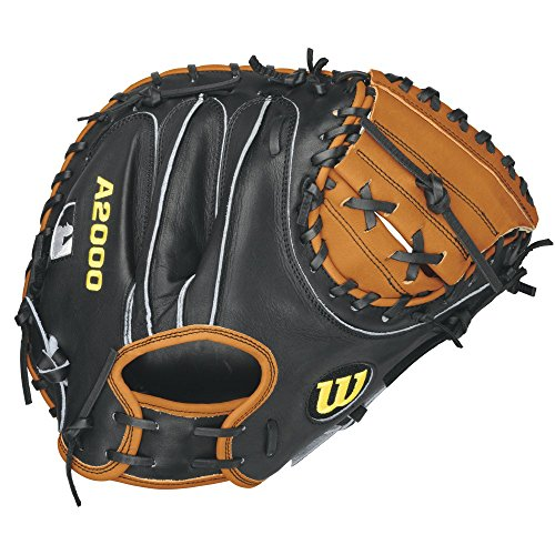 Wilson A2000 Pudge Baseball Catcher's Mitt, Orange Tan/Black, Right Hand Throw,...