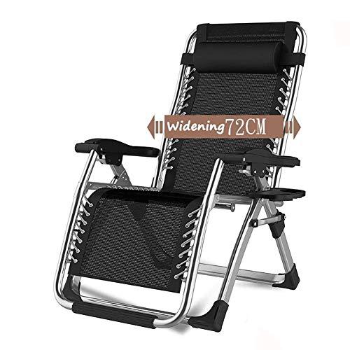 LXYZ Chaises inclinables de Patio avec Coussins pour Les Personnes Lourdes, Chaise Portable Pliante de Camping en Plein air pour la Plage, supporte 200 kg