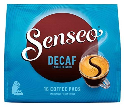Senseo Pads Decaf, 16 Kaffeepads entkoffeiniert für 16 Getränke