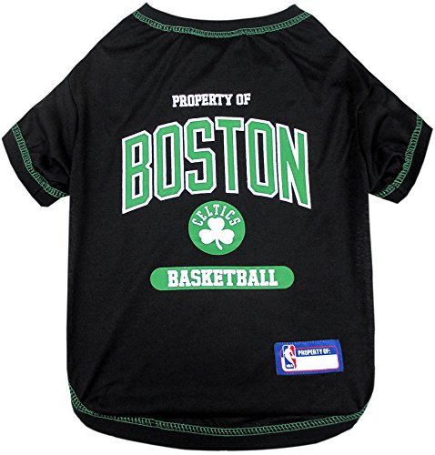 Pets First NBA Licensed Hoodies & T-Shirt for Dogs & Cats, Boston Celtics, Medium