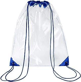 Kcnsieou - Mochila de deporte transparente con cordón para la escuela, bolsa de deporte