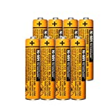 8 Pack HHR-65AAABU NI-MH Rechargeable Battery for Panasonic 1.2V 630mAh AAA Battery for Cordless Phones