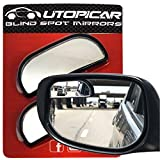 Blind Spot Mirrors - Car Mirror for Rearview Blind Side, Updated for optimized Shape and Size - Automotive Door Mirrors by Utopicar Car Accessories for Larger Image [Adjustable] Stick-on (2 pack)