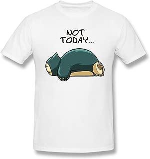 Bakugou Men's Snorlax Pok?mon Not Today Short Sleeve Top T-Shirt