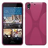 HTC Desire 728G Dual Sim - TPU Schutzhülle X-Style X Design Case Schutz Cover Etui Hülle in Pink - RT-Trading