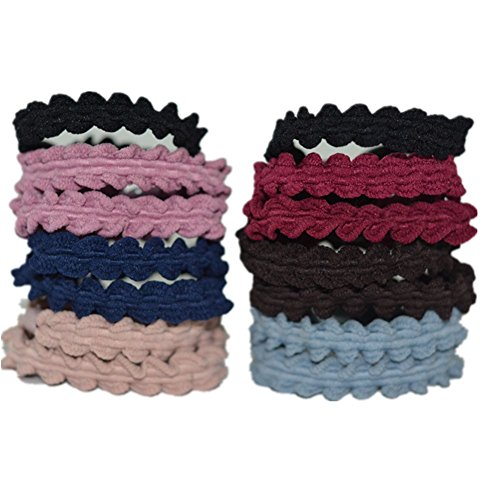 Bzybel Thick Seamless Cotton Hair Bands Elastic Hair Ties Ponytail Holders Headband Scrunchies Hair Accessories No Crease Damage for Thick Hair for Women Girls