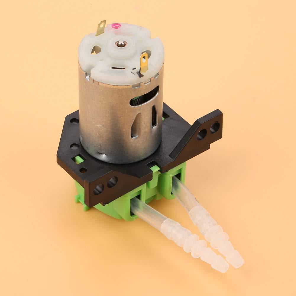 Bomba dosificadora de acuario Bomba dosificadora química Bomba peristáltica Bomba dosificadora DC12V / 24V para análisis bioquímico de laboratorio experimental de acuario(verde, 24 V 3 * 5)