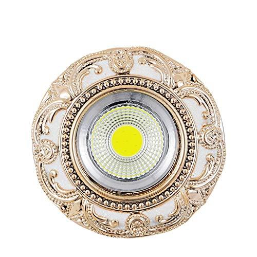 Hong Yi Fei-Shop Lámpara de Techo Luz de Techo llevada Luz de Techo integrada del Agujero de la Sala de Estar Luz del Techo del pórtico del Pasillo 3W lámpara de Techo led (Color : A)