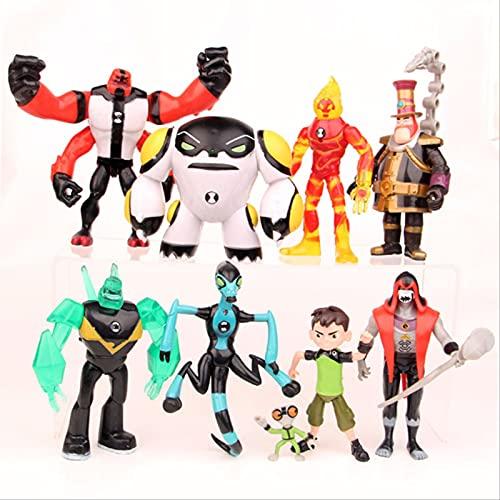 QWYU 9pieces Nuevo Protector De La Tierra Familia Figuras De Acción Brinquedos Juguetes