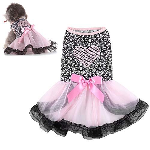Haustierkleid hundekleid Bling Hundekleid Hundekleidung Haustier Party Kleid Prinzessin Hundekleid Hundekleidung für kleine Hunde 4,m