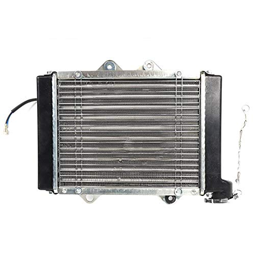 Vervanging ATV Radiator, Radiator Water Cool Fan Aluminium ATV Radiator Past voor 200CC 250CC 300CC 400CC Quad Crossmotor Buggy EGL ATV