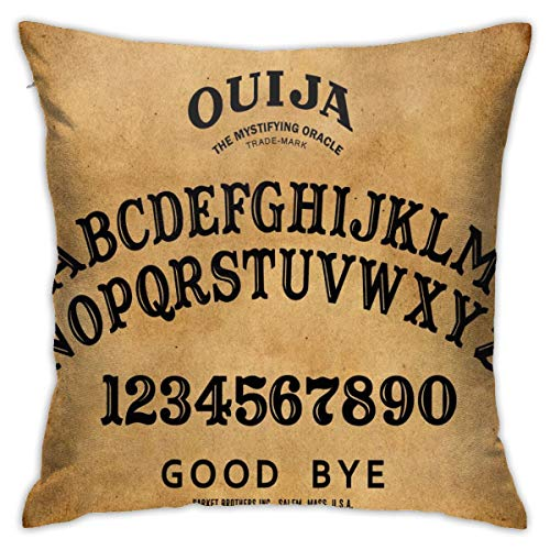 SARA NELL Velvet Pillow Covers Decorative Throw Pillow Case Vintage Retro Ouija Boards Design Pillow Covers for Couch Sofa Bed,Pillows Cushion Covers,18 x 18 inches
