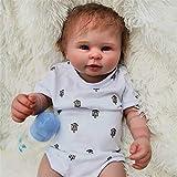 El bebé Reborn es Todo de Silicona, 48 cm 23 Pulgadas Todo el bebé de Silicona es Suave como una ver...