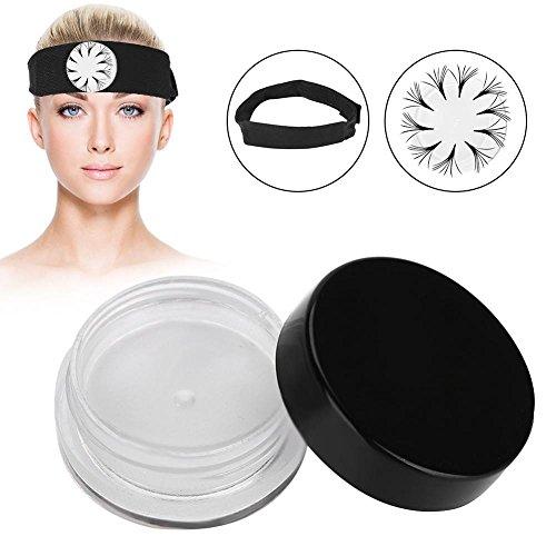 Yotown Stick à Cils, Extension en Silicone Cils Extension de Palette de palettes Support de Support Aimant en Bas Outil de Maquillage avec Foulard magnétique(Transparent)