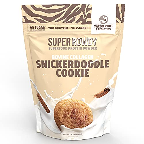Super ROWDY Snickerdoodle Cookie Collagen Protein Powder - Yacon Root...
