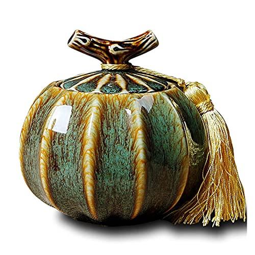 JIEZ Urnas de Cenizas funerarias de Porcelana