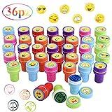 【Confezione】: 36pz timbri emoji per bambini, 12 vari modelli, 3 per modello. Il motivo del timbri è che alcuni sono uguali. 【Autoinchiostranti】: non è necessario alcun inchiostro aggiuntivo. l'inchiostro e' contenuto nel cilindro dove c'è il disegno ...